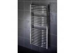 1000mm x 500mm Curved Heated Hand Towel Rail