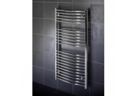 1000mm x 500mm Curved Heated Hand Towel Rail