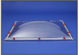 Rectangular Diffused Em Domes Single Glazed Rooflight