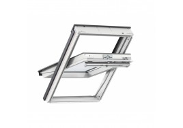 VELUX GGU 0062 White Polyurethane Triple Glazed Centre Pivot Window With Noise Reduction