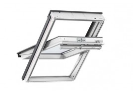 VELUX GGL 2062 White Painted Noise Reducing Triple Glazed Centre Pivot Window