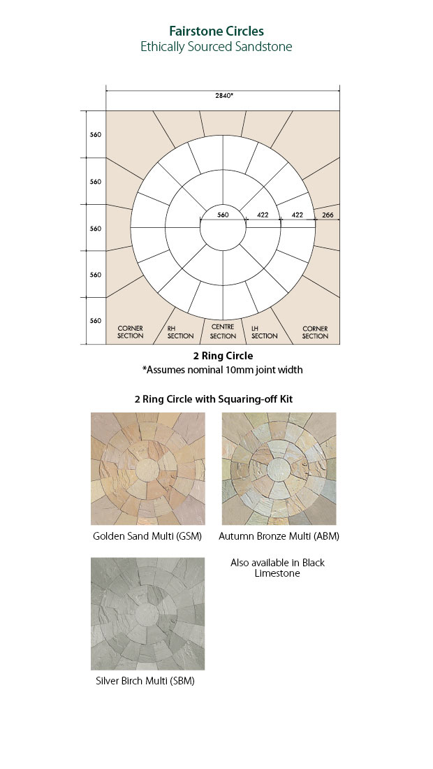 Fairstone Riven Harena Circles Autumn Bronze Multi