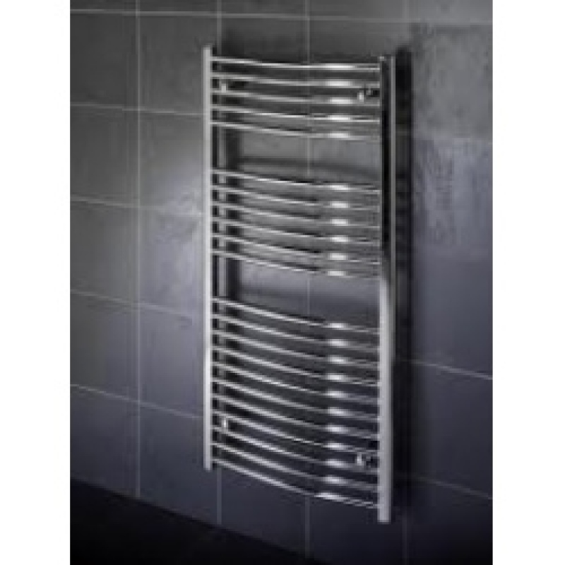 1000mm X 600mm Curved Heated Hand Towel Rail