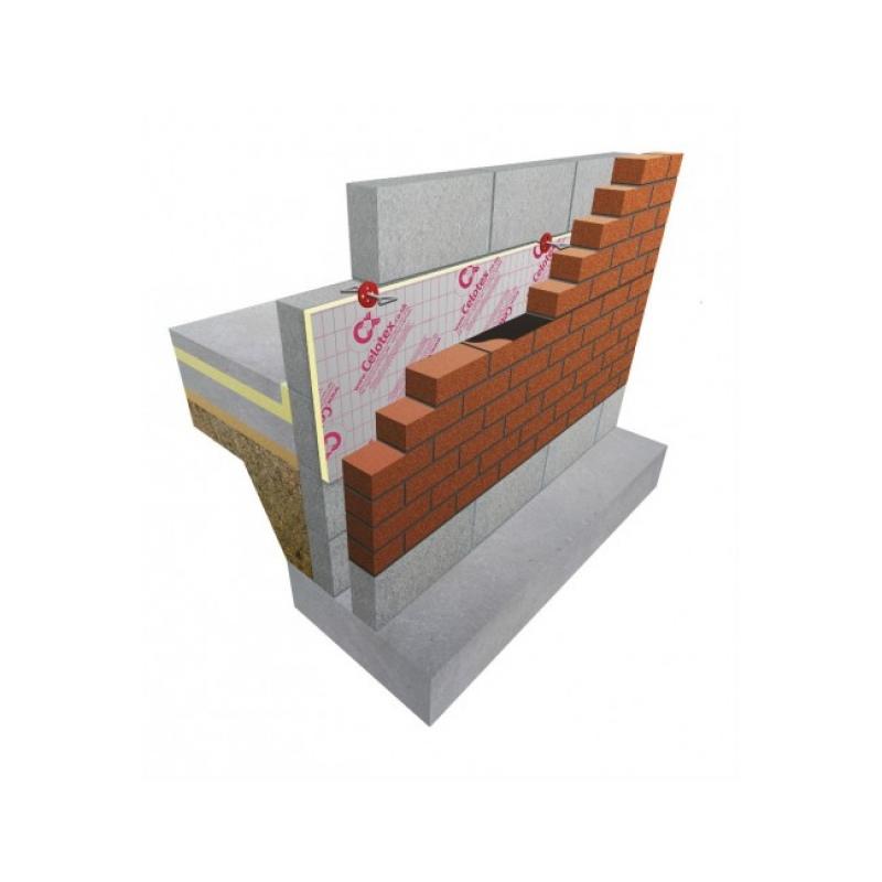 Celotex Cw4100 Cavity Wall Insulation 1200 X 450 X 100mm