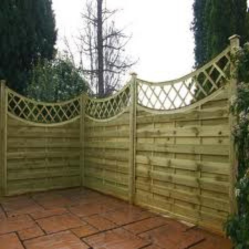 Fencing horizontal weave concave trellis ft quot