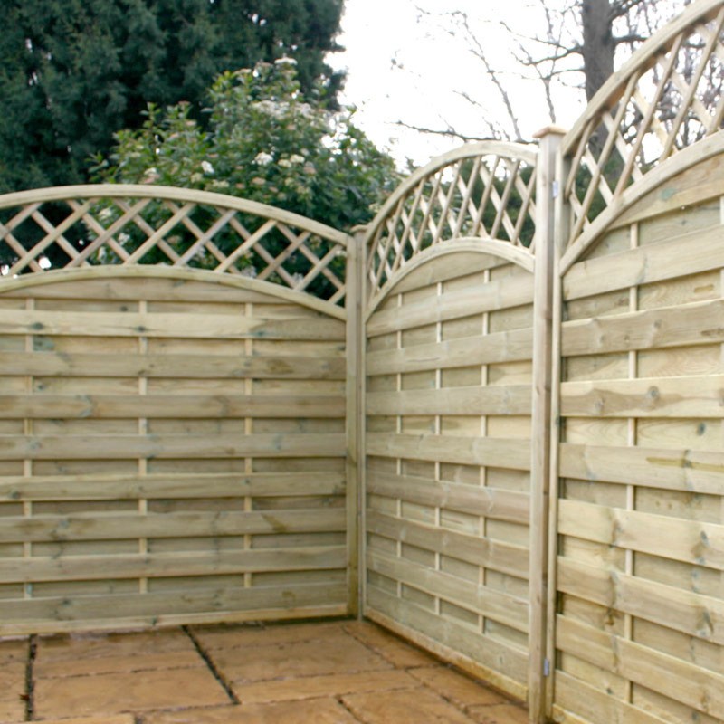 Fencing Horizontal Weave Convex Trellis Fence Panels 5ft 11