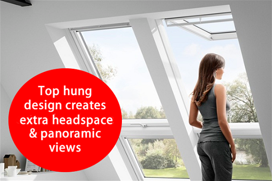velux gpu 0070 white polyurethanetop hung window. Black Bedroom Furniture Sets. Home Design Ideas